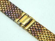 "Vintage Unused TONED Tarnished Yellow Gold Filled Kreisler watch band 19mm 3/4"""