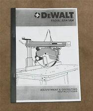 DeWALT Crosscut Saw Instruction Manual