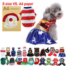 Xmas Pets Jumpsuit Halloween Dog Costumes Clothes Apparel Small Puppy Dogs Cats