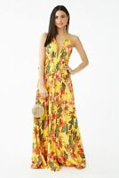 Forever 21 Mustard Multi Floral Print Maxi Dress XSmall