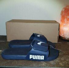 Puma Men's Starcat Tech Slip-on Adjustable Strap Comfort Slide Sandal Navy sz 12