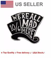 Mad Hatter Embroidered Iron On Sew Patch Alice in wonderland embroidery badge
