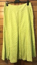 Laura Ashley Linen Skirt Size 14 Green - Gorgeous!