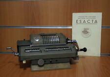 ESACTA Macchina Calcolatrice Mod.1154 Lusso Vintage da Collezione Rara Originale