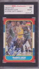 MAURICE LUCAS LA LAKERS SIGNED 1986-87 FLEER BASKETBALL CARD SGC DECEASED 2010