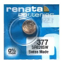 Renata 377 SR626SW AG4 LR66 1.55V Button Silver Oxide Battery (1 Piece)