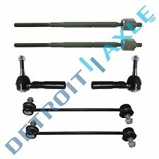 6pc Inner & Outer Tie Rod Ends + Sway Bar End Links for Caliber Compass Patriot