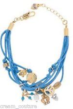 Juicy Couture Crystal & Faux Pearl Charm Bracelet YJRU4035 NEW MSRP $48