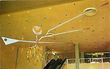 c1960 Hanging Mobile, Atlanta Airport Interior View, Georgia Postcard