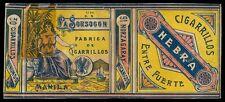 Philippines LA SORSOGON Cigarette Label