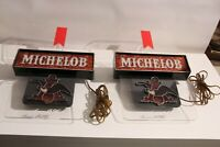 2 Vintage Michelob Beer Wall Light, Bar Sign Advertisement, Anheuser Busch Eagle