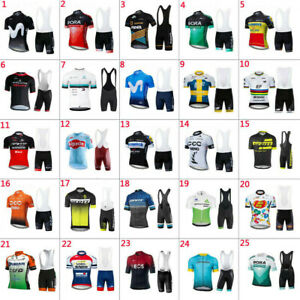 Mens Cycling Jersey and Bib Short Set Cycling Jersey Short Sleeve bicycle Shorts