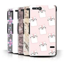 STUFF4 Back Case/Cover/Skin for Sony Xperia Go/ST27i/Pink Fashion