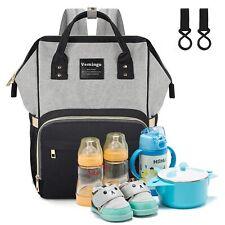 Vemingo Infant Diaper Bag Backpack with Stroller Straps Large Capacity Organizer