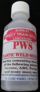 PWS, PLASTIC WELD SOLVENT, PLASTIC GLUE, PLASTIC WELD GLUE, 250ml, NEW TO RANGE