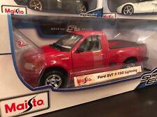 Maisto 1:21 Scale Diecast Model Truck Ford SVT F-150 Lighting (Red)