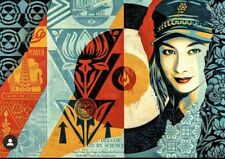 """OBEY GIANT """"RAISE THE LEVEL"""" SCREEN PRINT POSTER SHEPARD FAIREY SIGNED SOLD OUT"""