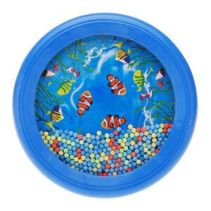 Sensory Visual Ocean Wave Sea Sound Bead Drum Educational Kids Gift NIE