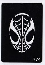 GT774 Body Art Temporary Glitter Tattoo Stencil  Spiderman