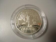 KANADA 2014 - 10 Dollars in 925 Silber,  PP - FUSSBALL WM BRASILIEN