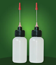 Two 1 Oz bottles with stainless steel needle tip dispenser for Flux