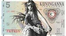 The Harvest Maven Banknote 5 Fusto 2015 Unc Specimen, Private, Note