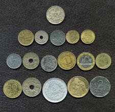 Coin France / pièces de 1917 (1 franc en argent / silver) à 1997 / lot 9