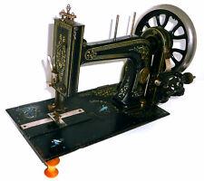 Antique victorian Stoewer Pallas treadle sewing machine no hand crank cerub