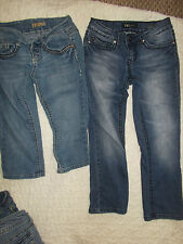 GIRLS TEENS SIZE 1 JEANS 2 PAIRS  YMI TEEN JUNIORS JEANS