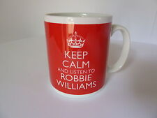 Keep Calm and Listen To Robbie Williams Mug Carry On Retro Gift Present Cup