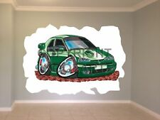 Huge Koolart Cartoon Renault 19 16V Wall Sticker Poster Mural 103