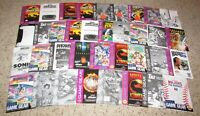 Lot of 36 Sega Game Gear Instruction Manuals Fast Shipping!