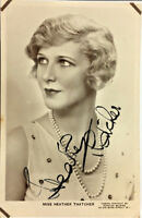 MISS HEATHER THATCHER ACTRESS SIGNED REAL PHOTO POSTCARD RPPC UNPOSTED