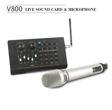 Wireless karaoke live sound card microphone Computer Phone Webcast Audio Mixer