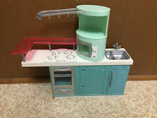 Barbie Fashion Fever Kitchen Refrigerator Microwave Oven Home Furniture Playset