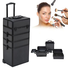 Valise à Maquillage Mallette Maquillage 4 en 1 Aluminium Cosmétique Beauty Case