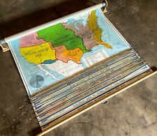Vintage, Rand McNally Pull Down History Map, 8 pages! in Excellent ++ Condition!