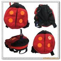 Baby Kids Toddler Walk Safety Harness Ladybird Backpack Bag Walking Rein Strap F