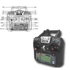 Flysky FS-i6X 2.4GHz 10CH AFHDS 2A RC Transmitter with FS-IA6B Airplane Receive