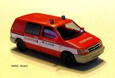 """BUSCH 44654 - H0 Dodge Ram Van """"Betriebsfeuerwehr Eurostar""""  1:87"""