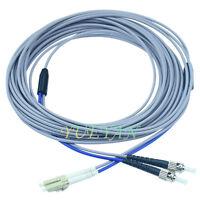 3M Armored Multi-mode Duplex Fiber Optic Cable 62.5/125 LC-ST Fiber Patch Cord