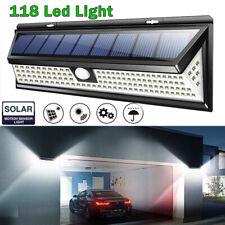 1000LM 118LED Solar PIR Motion Sensor Light Outdoor Garden Yard Lamp Waterproof