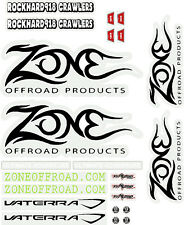 RC 1/10 Car Truck JEEP Commanche DECALS STICKERS *NEW* MJ Zones Offroad Logos
