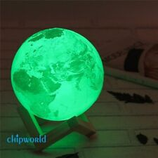 3D Earth Lamp USB LED Night Light Birthday Gift Sensor Color Changing Baby Kids
