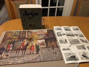 Vintage wooden jigsaw Hunting Morn 300 pieces Chad Valley like wentworth  rare