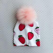 Newborn Baby Bonnet Cap Fashion Pompom Infant Toddler Skullies Beanies Kids
