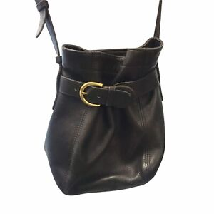Vintage COACH #K6H-4156 Soho Belted Pouch Crossbody Black Leather Made In USA
