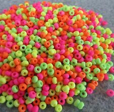 8/0 Preciosa Czech Glass Seed Beads OPAQUE NEON MIX 20 grams