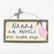 Nanas are Angels - Sentimental Hanging Plaque Novelty Gift Fun Sign