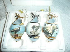 Set of 3 Bradford Editions On Eagles Wings Heirloom Porcelain Ornaments LOVELY